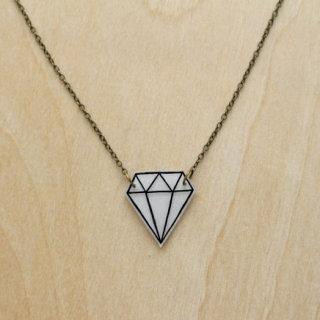 Veronika Glazunova - Diamond Sketch Necklace