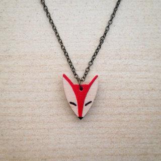 Veronika Glazunova - Red Fox Necklace Small
