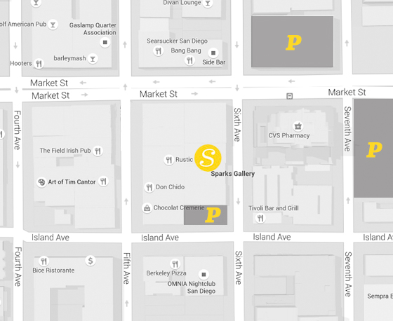 Sparks Art Gallery Downtown Parking Map