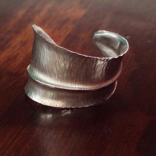 Alexandra Hart - Silver Leaf Bracelet