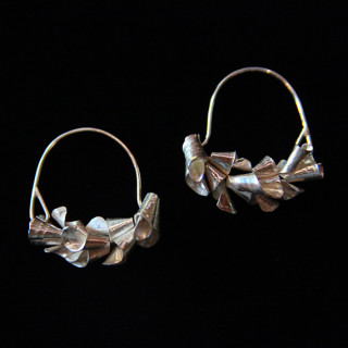 Curled Silver Earrings