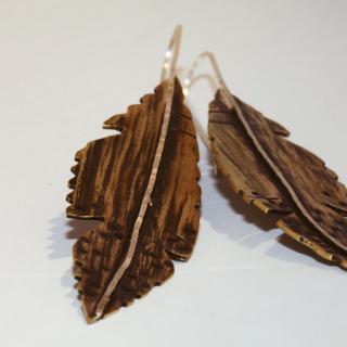 LOA Designs - Feather Earrings, Brass