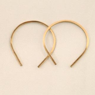 LOA Designs - Tiny Upside Down Earings Gold
