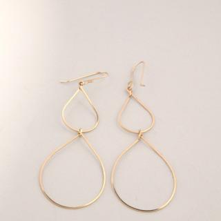 LOA Designs - Gold Teardrop Earrings