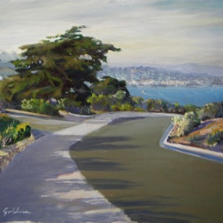 San Diego from Pt. Loma en plein air