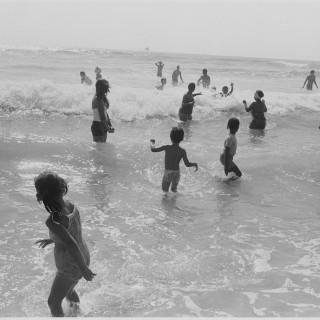 Twenty-one Figures in Surf, Pacific Beach