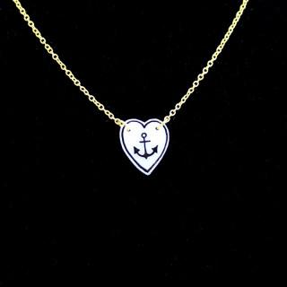 Anchor Heart Necklace