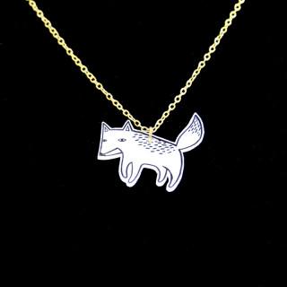 Fox sketch necklace
