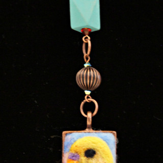 Rectangle Bird Cameo Necklace