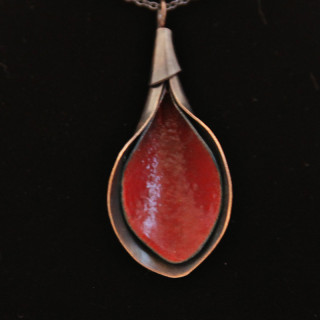 Red Calla Lilly Pendant