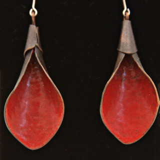 Red Calla Lilly Earrings