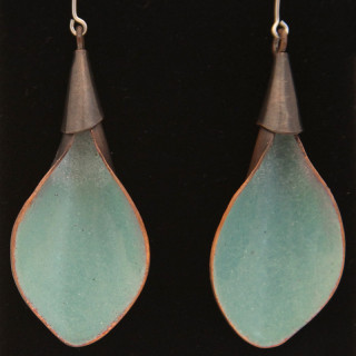 Aqua Calla Lilly Earrings