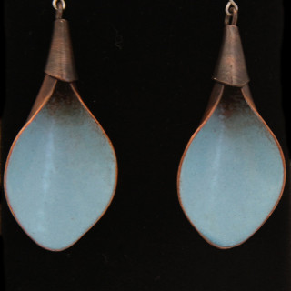 Light Blue calla lily earrings