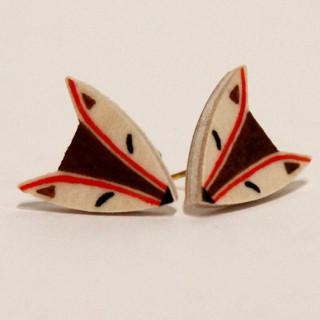 Brown Fox Earrings