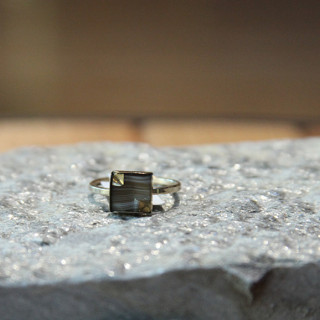 Marbled Square Nailhead Ring