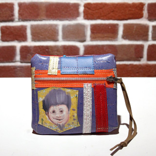 Pouch with Painted Face