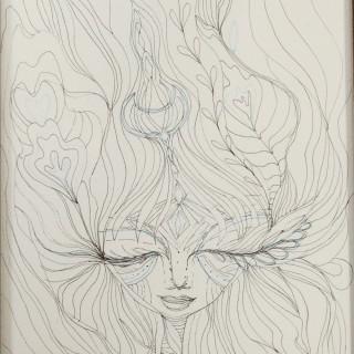 Oshun- pen drawing