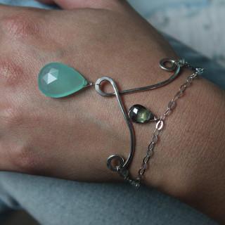 Peacock Silver Bracelet