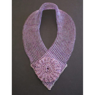 Arline Fisch - Purple and Silver Scarf
