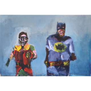 Larry Caveney - Batman and Robin Running