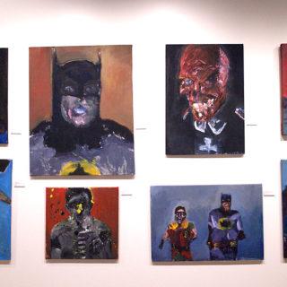 Reeves Superman, Large Batman Portrait, Red Skull, Batman with Red background, WonderWoman Badass, Robin Splatter, Batman and Robin Running, Superman Underwater