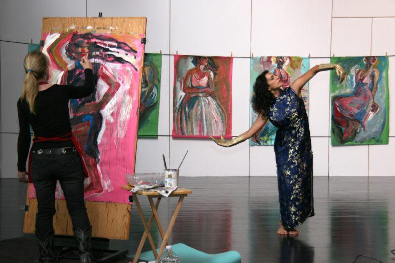 Anna Stump painting dancer