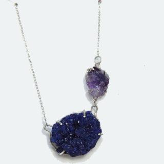 Eva Zuzu - Azurite and Amethyst Necklace copy
