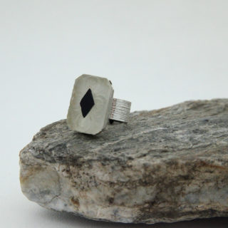 Frosted Black Diamond Ring
