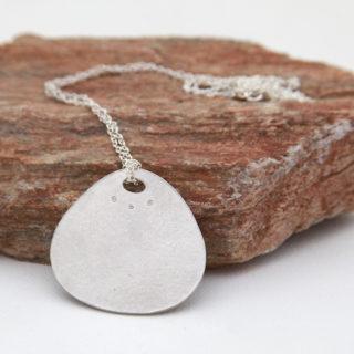 Alexandra Hart - Large Silver pendant
