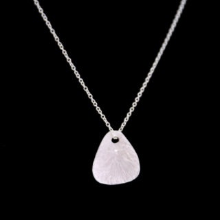 Alexandra Hart- Small silver pendant with 3 diamonds
