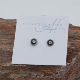 Alexandra hart- Small stud earrings with diamond