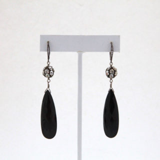 Black Spinel Drop Earrings