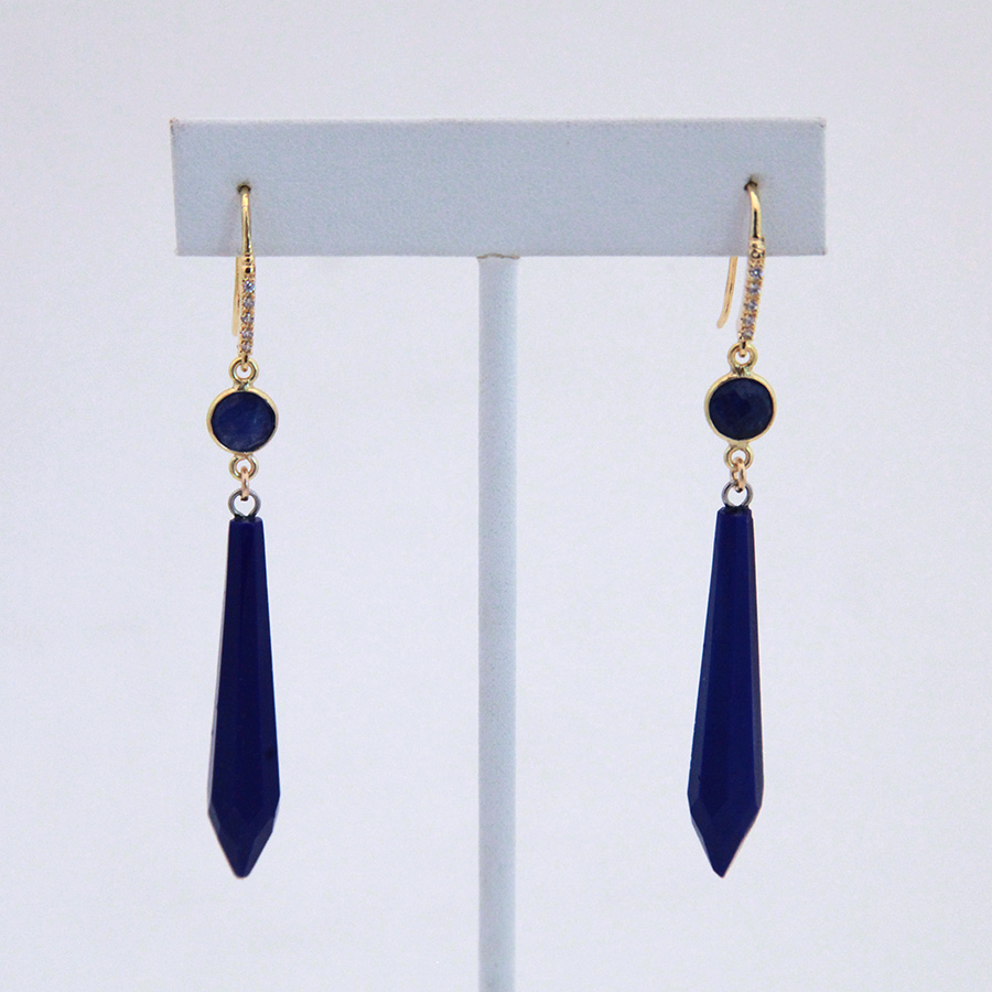Lapis And Blue Drop Earrings