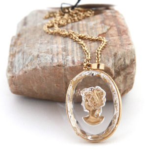 Ivory Cameo Pendant Necklace