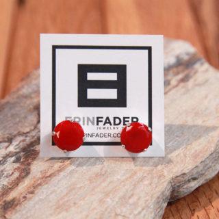 Ear Candy Earrings Red & Silver