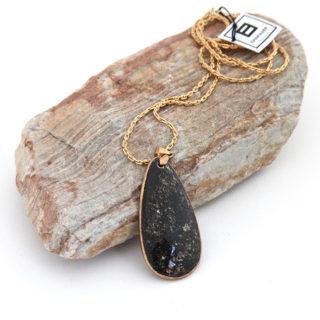 Black Gemstone Pendant Necklace