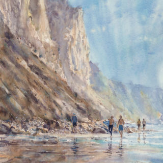 Blacks beach at high tide - Bruce Swart