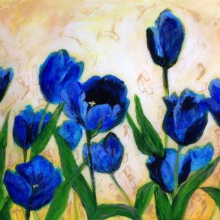 Hill Stump Blue Tulips