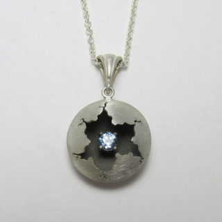 Cracked Pendant Swiss Blue Topaz Briar and the Rose 1