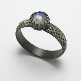 Moonstone Dragonscale Ring Briar & The Rose 1