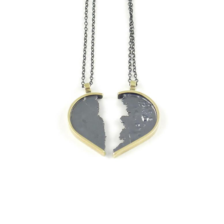 Torn in half heart necklace sparks gallery seth papac torn in half heart necklace aloadofball Choice Image