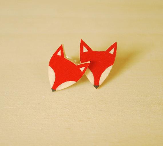 Veronika Glazunova - Fox Earrings