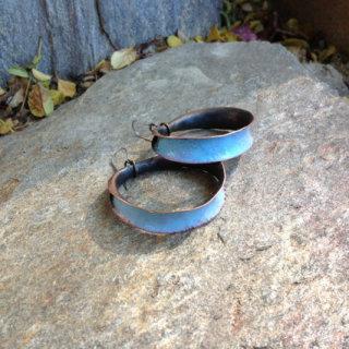 PityFab - Blue Hoop Earrings