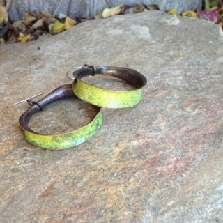 PityFab - Yellow Hoop Earrings