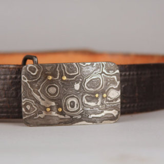 PityFab - Damascus Belt Buckle