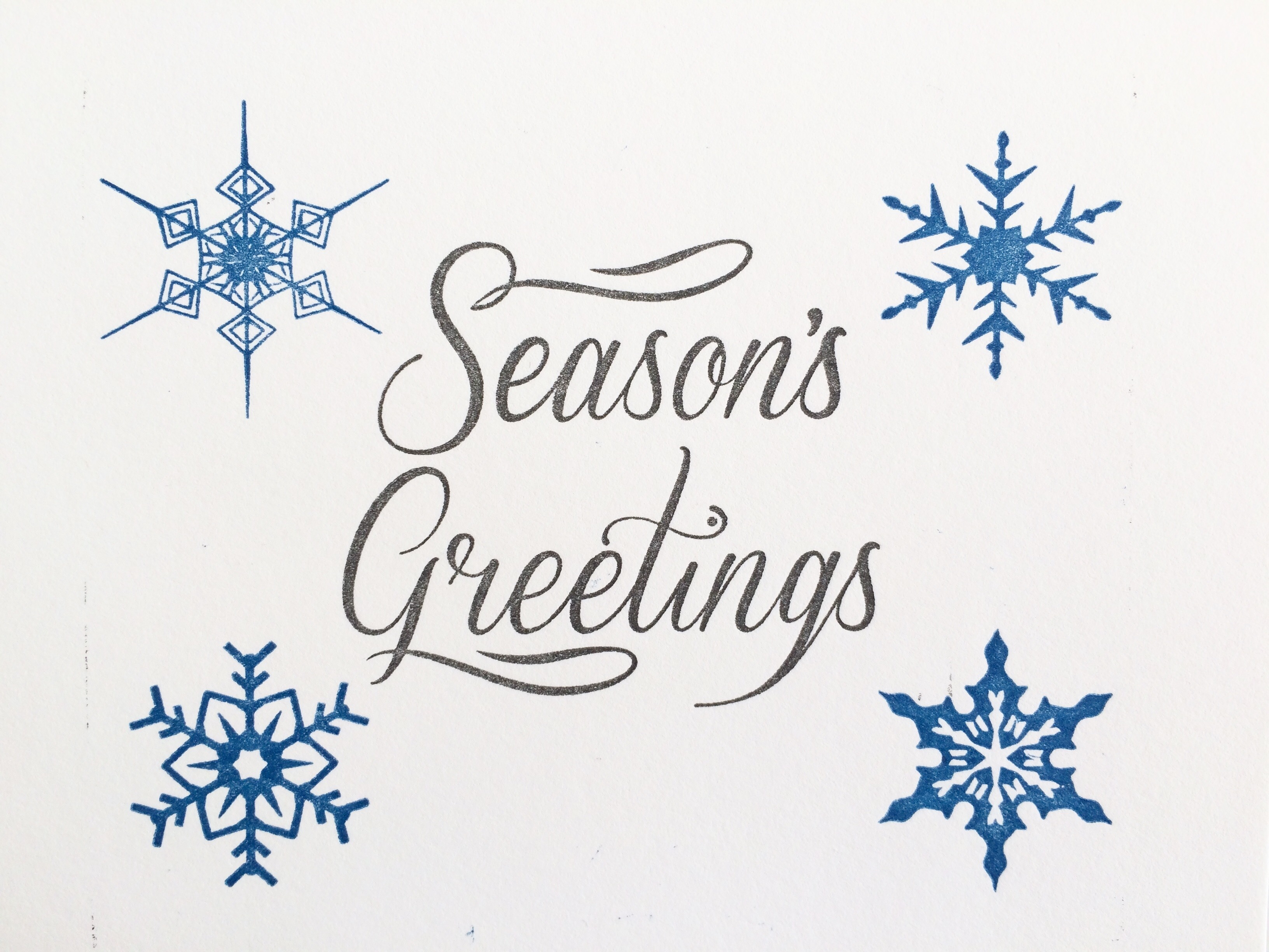 Seasons Greetings Holiday Cards Set Of 4 Sparks Gallery