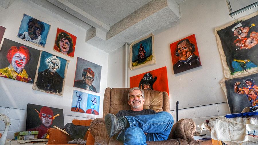 Larry Caveney in Studio