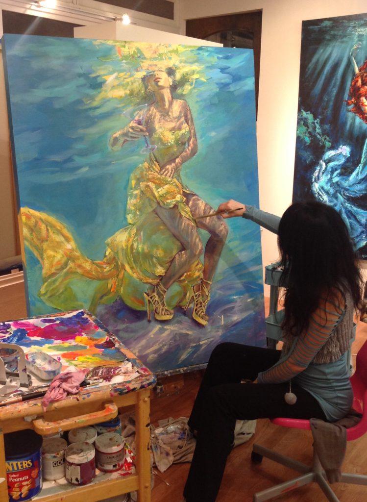 Irina Negulescu at work