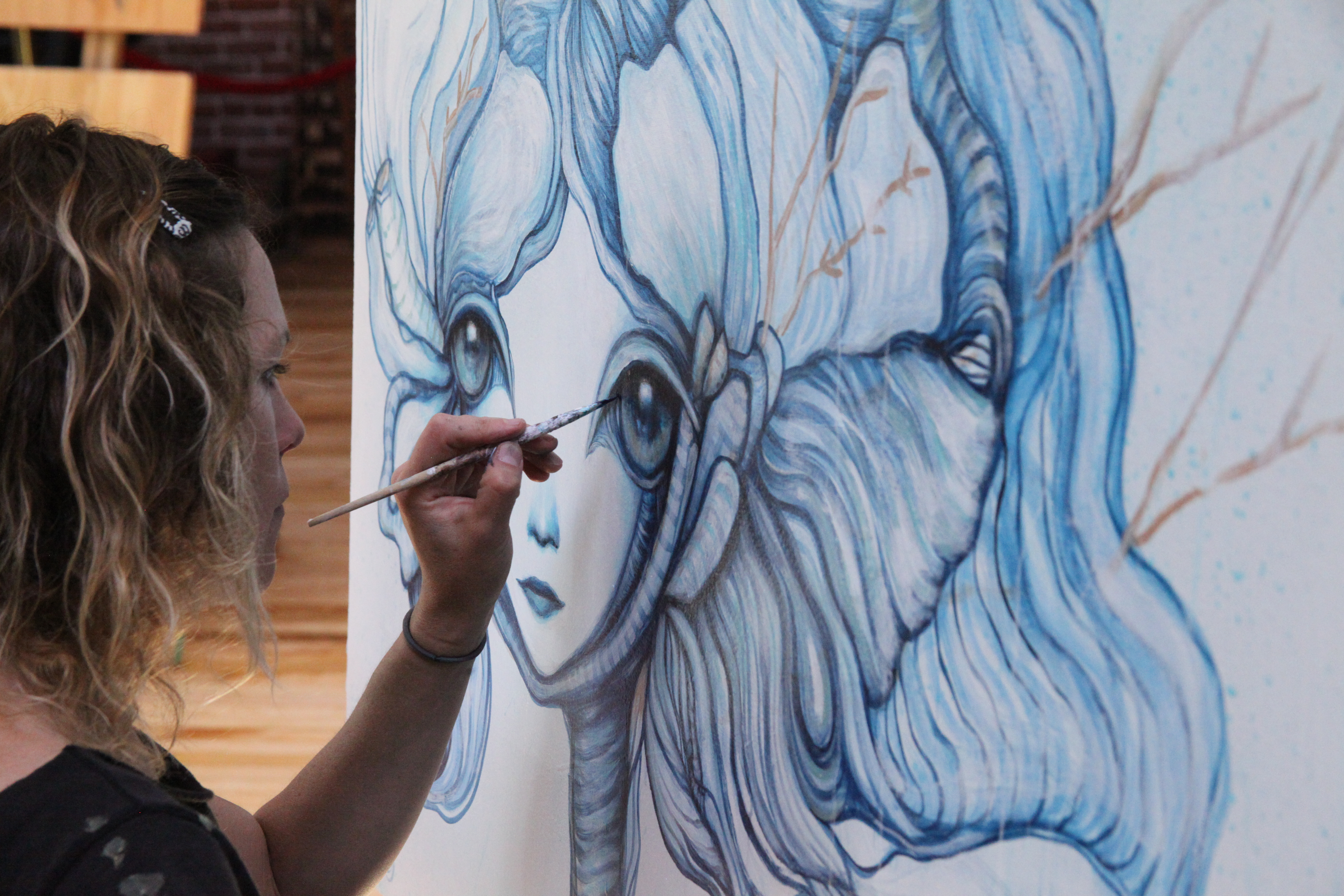 """Gloria Muriel Live Painting & """"Beyond the Eyes"""" Closing Reception"""